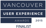 Vancouver UX 2015 Award Finalist